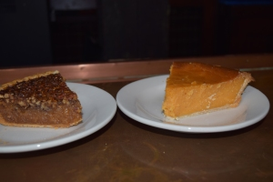 Pecan pie and sweet potato pie