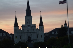 St. Louis Cathedral in front of a beautiful sky