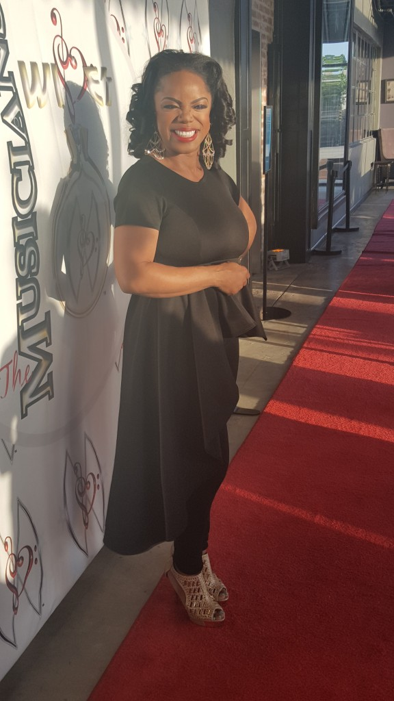 Singer-songwriter and hostess of The Musicians' Wives event Leela James