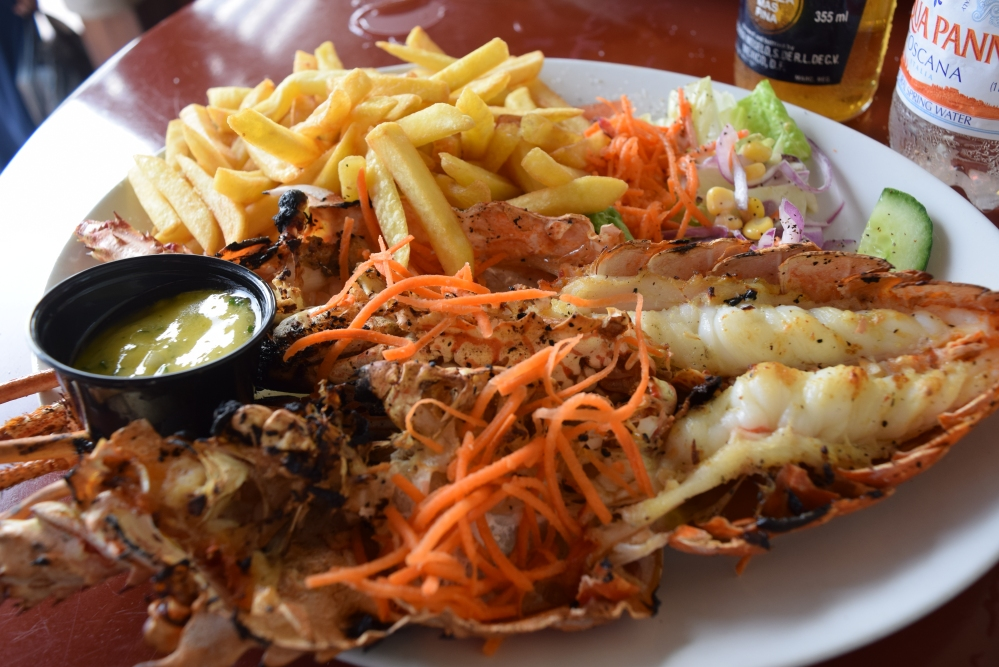Grilled Lobster in St. Maarten