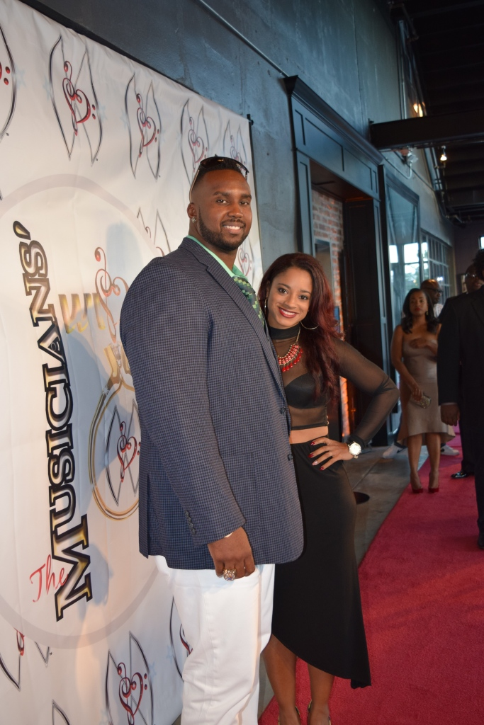 Tony Hills of the New Orleans Saints and his beautiful wife