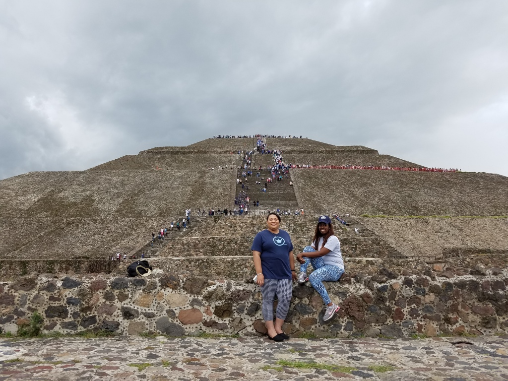 Posted in front of the Pyramid of the Sun