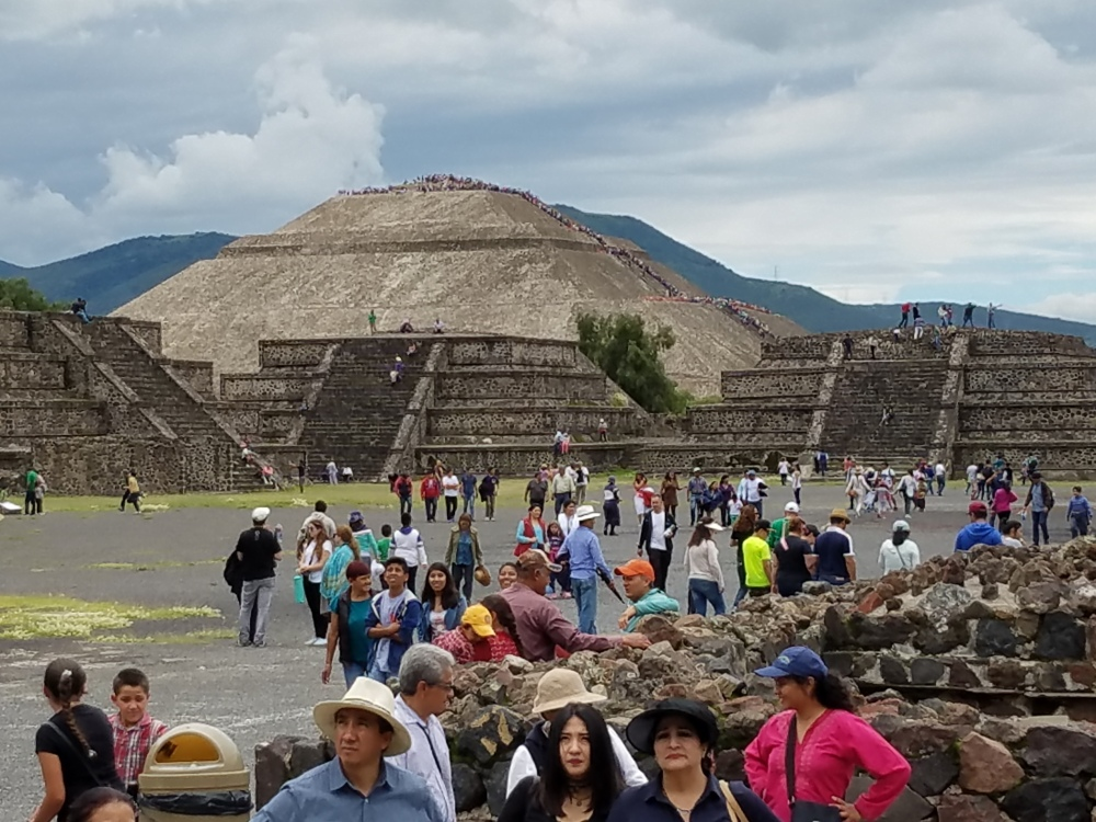 Pyramid of the Sun - do you see the line of people?