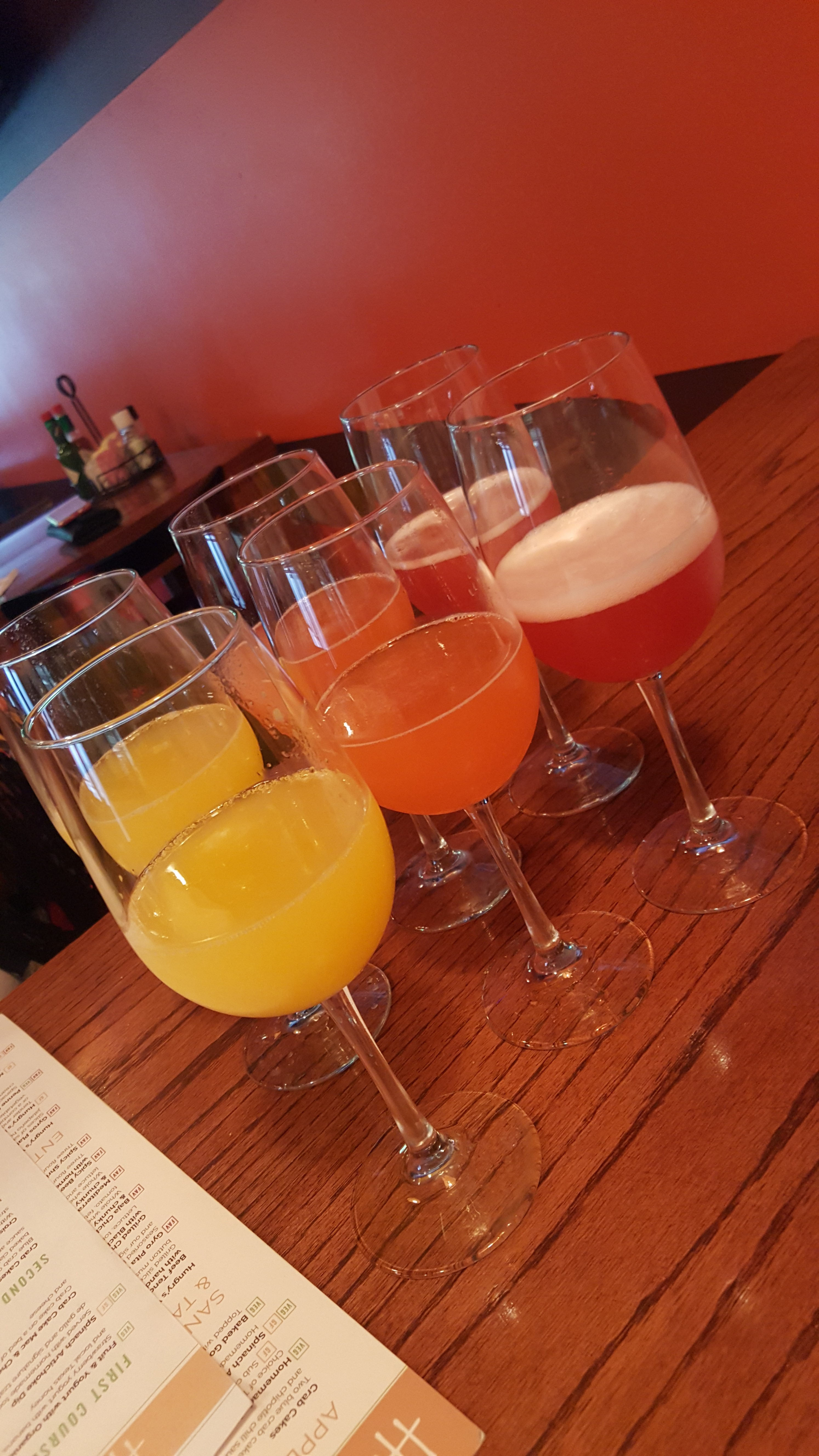 And The Best Part Mimosa Flights Were At A Discount Three For 9 You Could Choose Orange Raspberry Or Strawberry So Of Course We Had All Three