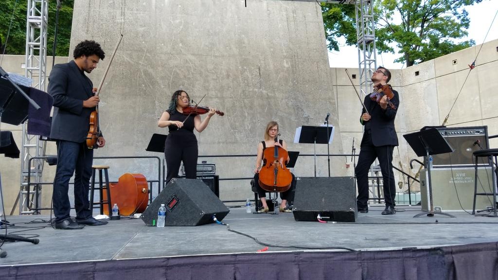 PUBLIQuartet performing at the Jazz Festival
