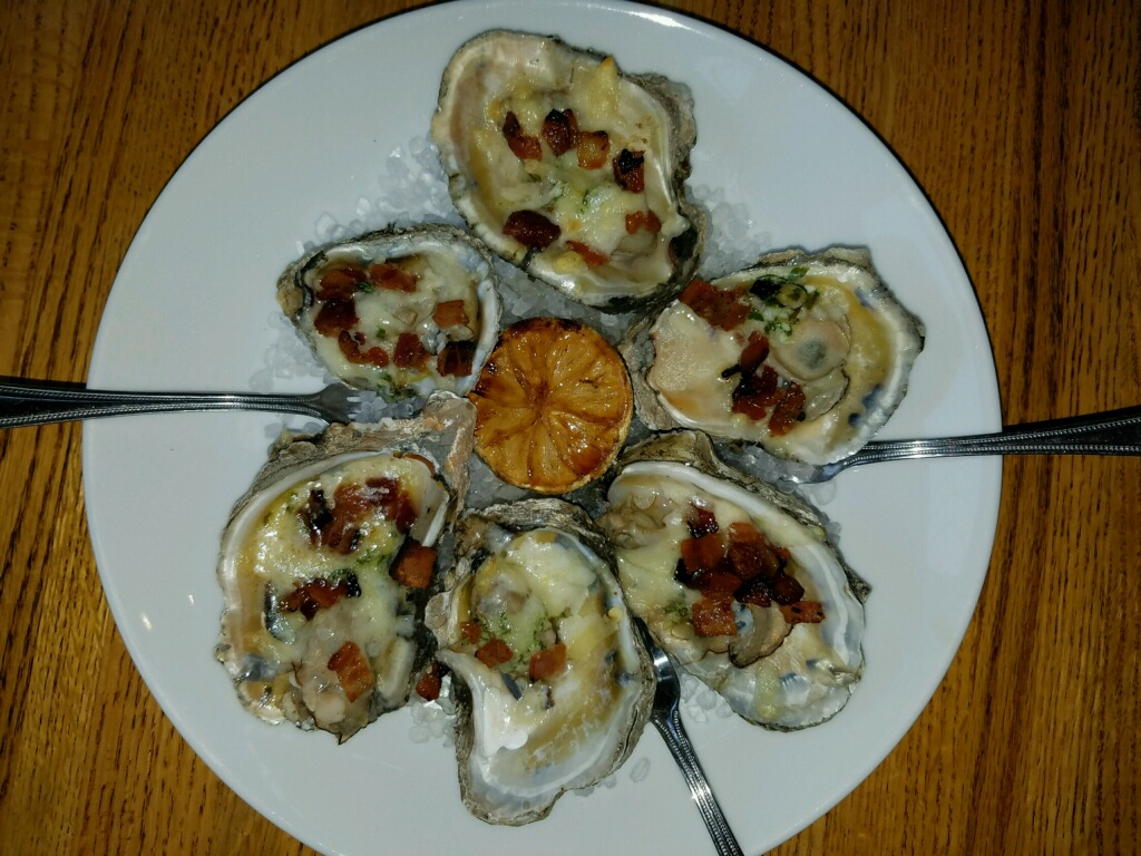 Hello oysters! (with bacon)