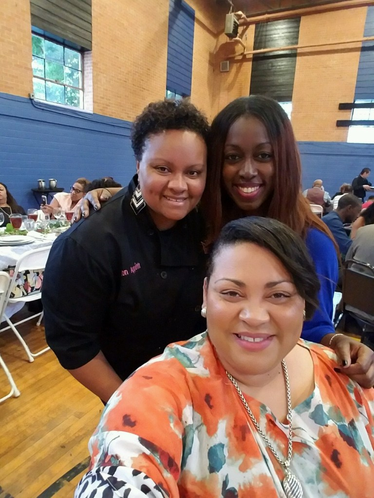 Selfie with executive chef Yolanda Henry