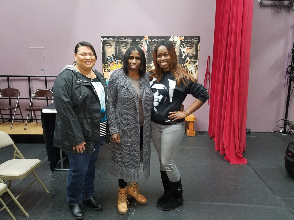 Kim, Sherese Campbell and Val
