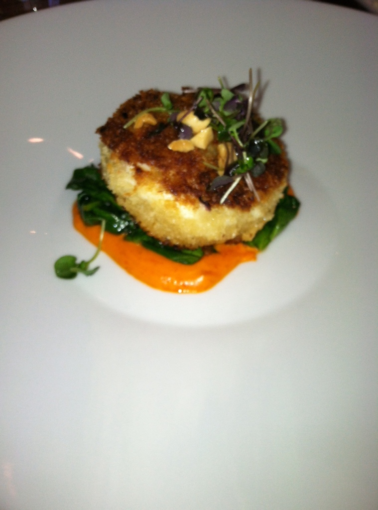 Crabcake from The Houstonian Hotel's Olivette Restaurant