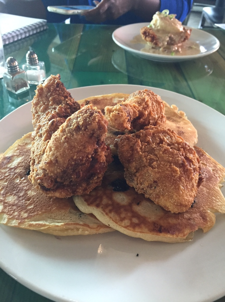Harold's Fried Chicken and Blueberry Pancakes