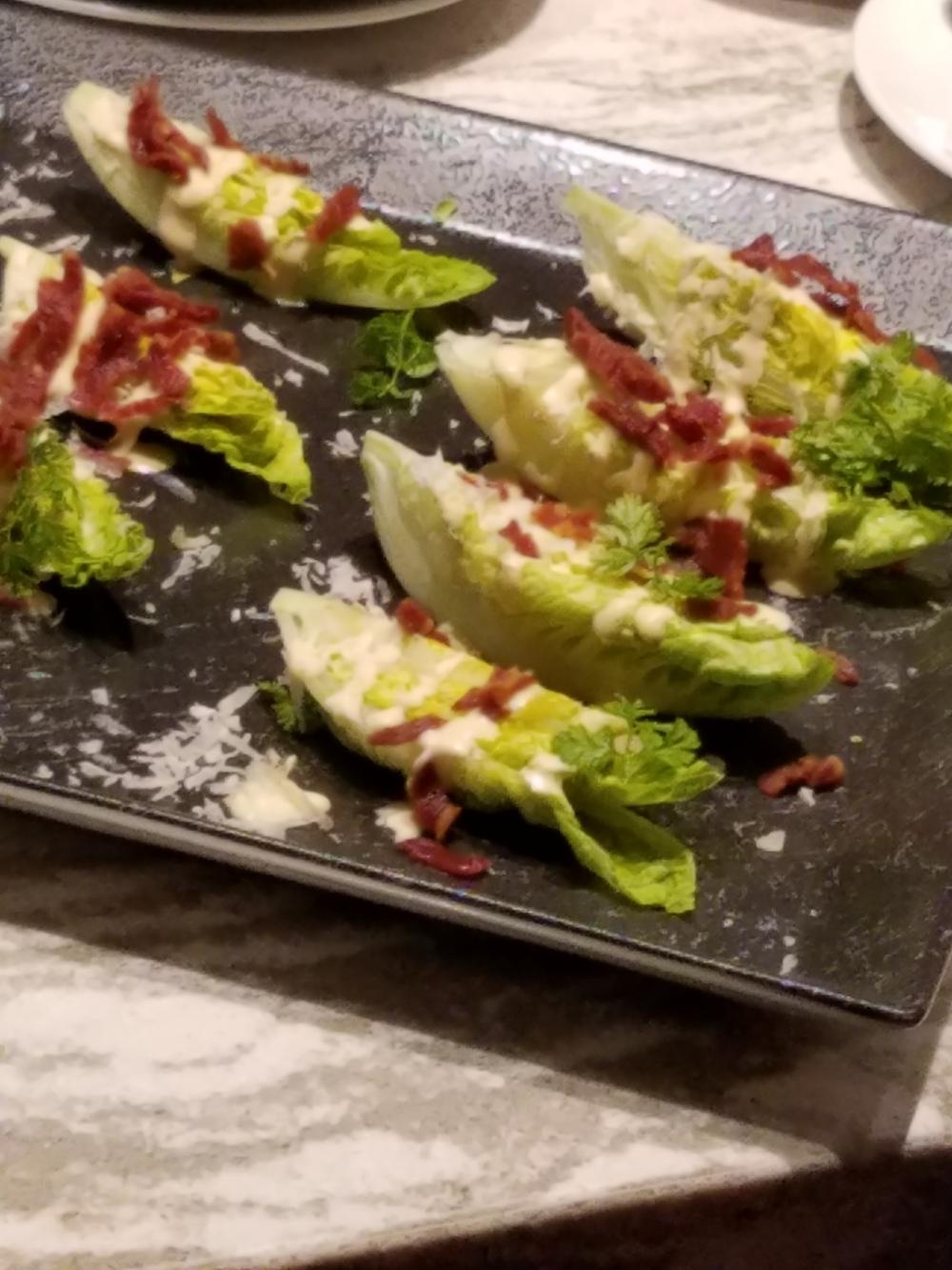 Mini wedge salads