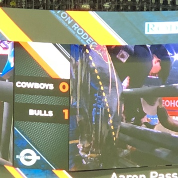 The bulls were winning!