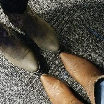 We were cowboy boot ready!